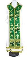Требный комплект из кит. шёлка ШК (зелёный/золото)