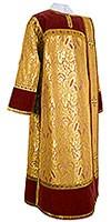 Дьяконское облачение из парчи ПГ3 (жёлтый-бордо/золото)