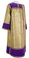 Дьяконское облачение из парчи ПГ3 (фиолетовый/золото)