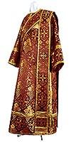 Дьяконское облачение из шёлка Ш2 (бордовый/золото)