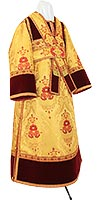Иподьяконское облачение из парчи ПГ3 (жёлтый-бордо/золото)