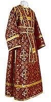 Иподьяконское облачение из шёлка Ш2 (бордовый/золото)
