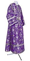 Иподьяконское облачение из шёлка Ш4 (фиолетовый/серебро)