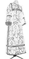 Стихарь клирика из парчи ПГ5 (белый/серебро)