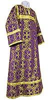 Стихарь алтарника из парчи П (фиолетовый/золото)