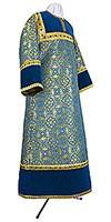 Стихарь алтарника из парчи ПГ1 (синий/золото)