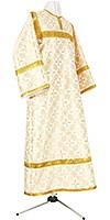 Стихарь детский из шёлка Ш2 (белый/золото)