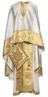 Греческое иерейское облачение -  189 белое/золото