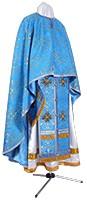 Греческое иерейское облачение из парчи ПГ1 (синий/золото)