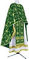 Греческое иерейское облачение из парчи ПГ2 (зелёный/золото)