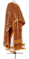 Греческое иерейское облачение из шёлка Ш2 (бордовый/золото)