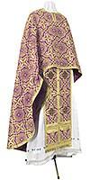 Греческое иерейское облачение из шёлка Ш3 (фиолетовый/золото)