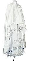 Греческое иерейское облачение из шёлка Ш4 (белый/серебро)