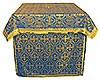 Облачение на престол из парчи П (синий/золото)