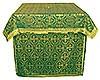 Облачение на престол из парчи ПГ2 (зелёный/золото)