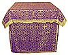 Облачение на жертвенник из парчи ПГ1 (фиолетовый/золото)