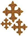 Кресты ручной вышивки №Д148