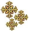 Кресты ручной вышивки №Д188