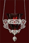 Филигранная подвесная лампада №20