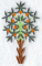 """Мастерская """"Православное узорье"""", вышивка: Декоративное дерево с остроконечными листьями и цветами."""