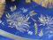 """Набор вышитых покровцов с воздухом """"Хризантемы"""" (деталь, бархат)"""