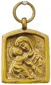 Православный нательный образок: Владимiрская икона Пресв. Богородицы