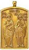 Православный нательный образок: Препп. Петр и Феврония Муромские