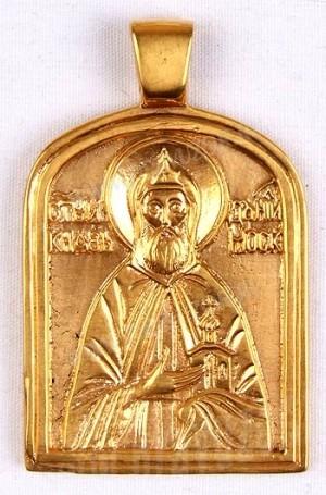 Православный нательный образок: Преп. Даниил Московский