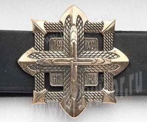 Пояс мужской - Крест в квадрате