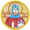Вышитая икона -Св. Олег Брянский