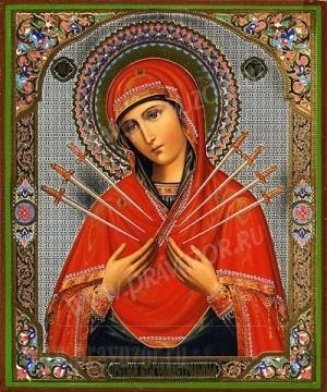 """Образ: """"Семистрельная"""" икона Пресвятой Богородицы"""