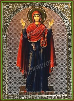 """Икона: образ Пресвятой Богородицы """"Нерушимая Стена"""""""