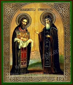 Икона: Свв. преподобные старцы Феодосии и Антоний Печерские чудотворцы