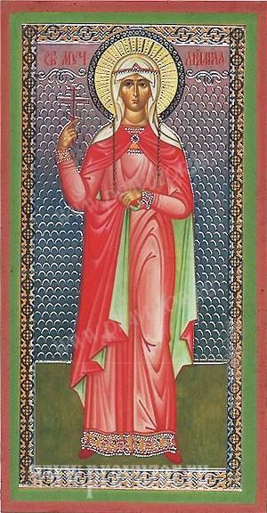 Икона: Св. мученица Людмила Чешская