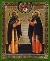 Икона: Преподобные Сергий и Никон Радонежские