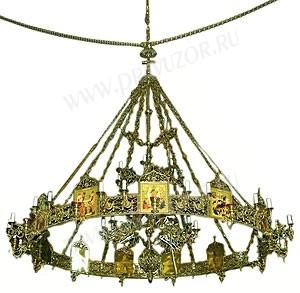 Одноярусное церковное паникадило (хорос) -1 (12 свечей)