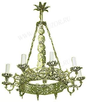 Одноярусное церковное паникадило (хорос) -8 (10 свечей)