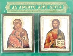 Икона: Домашняя пара (Спас и Владимирская икона Пресвятой Богородицы)