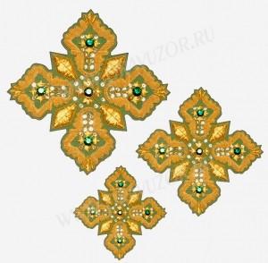 Кресты ручной вышивки №Д106