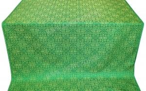 """Шёлк """"Иерусалимский крест"""" (зелёный/золото)"""