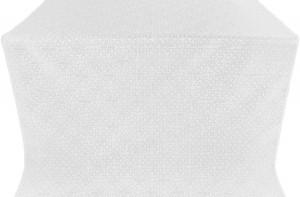 """Шёлк """"Иерусалимский крест"""" (белый/серебро)"""