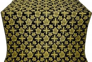 """Шелк """"Ажурный крест"""" (чёрный/золото)"""