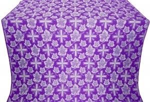 """Шелк """"Ажурный крест"""" (фиолетовый/серебро)"""