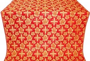 """Шелк """"Ажурный крест"""" (красный/золото)"""