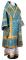 """Облачение архиерейское - парча П """"Кустодия"""" (синее-золото), Обиходные кресты с обыденным галуном"""