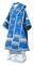 """Облачение архиерейское - парча П """"Белозерск"""" (синее-серебро), обиходная отделка"""