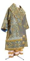 Архиерейское облачение из парчи ПГ2 (синий/золото)