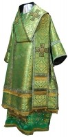 Архиерейское облачение из парчи ПГ3 (зелёный/золото)