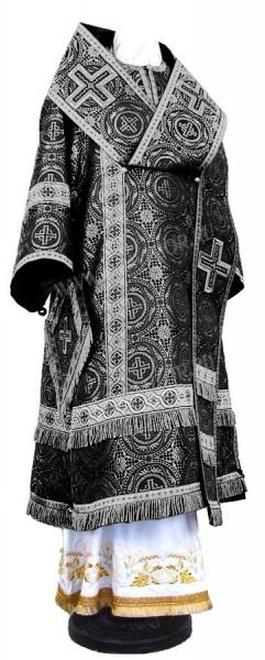 Архиерейское облачение из шёлка Ш2 (чёрный/серебро)