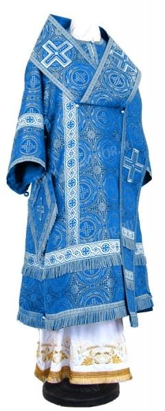 Архиерейское облачение из шёлка Ш3 (синий/серебро)
